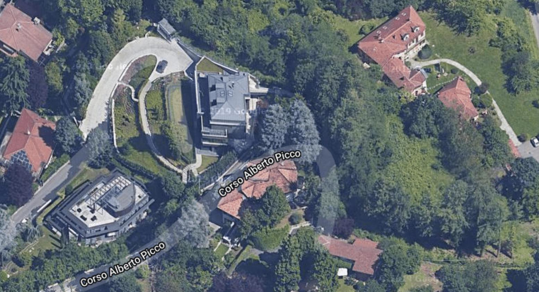 screen google maps villa Cristiano Ronaldo casa Torino