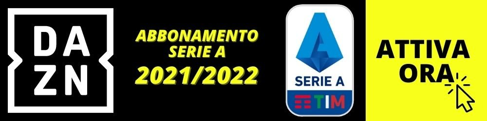 Abbonamento serie A DAZN 2021 2022
