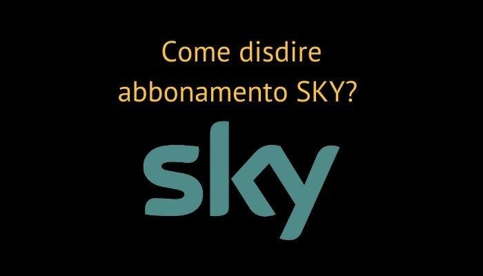 disdetta sky abbonamento